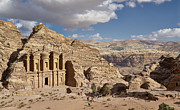 Jordan Photo Originals - The Monastery El Deir or Al Deir by Juergen Ritterbach