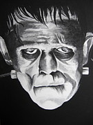 Universal Monsters Framed Prints - The Monster Framed Print by Jessica Myler