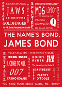 Secret Agent Prints - The names Bond in Green Print by Nomad Art And  Design