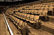 Bleachers Photos - The Old Ballpark by Frank Romeo