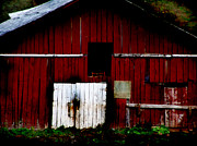 Old Country Roads Digital Art - The Old Barn by Lj Lambert