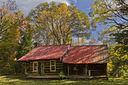 Old Cabins Prints - The Old Homestead Print by Debra and Dave Vanderlaan