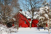 Rural Landscape Photos - The Old Red House by Heather Allen
