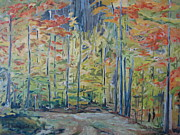 Impressionism Originals - The Orange Maple Trees by Francois Fournier