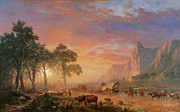 Ready To Frame Framed Prints - The Oregon Trail Framed Print by Albert Bierstadt