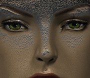 Green Eyes Digital Art - The Other World by Steven  Digman