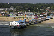 Old Orchard Beach Photos - The Pier At Old Orchard Beach, Old by Dave Cleaveland