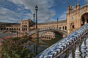 Mudejar Framed Prints - The Plaza de Espana of Seville Framed Print by Ayhan Altun