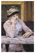 Vintage Woman Paintings - The Plum by Edouard Manet