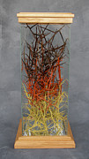 Color Sculpture Metal Prints - The Point Is Transition Metal Print by Lonnie C Tapia
