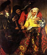 Old Age Paintings - The Procuress by Johannes Vermeer