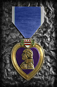 Vietnam Air War Art Metal Prints - The Purple Heart  Metal Print by Lee Dos Santos