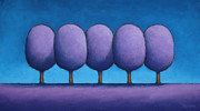 Trees Pastels - The Purple Trees Stick Together by Christopher Jackson