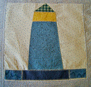 Quilt Art Photos - The Quilt Work of Chambers Island Lighthouse  by Carol Toepke