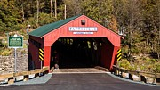 Taftsville Posters - The rebuilt Taftsville Covered Bridge. Poster by New England Photography