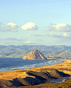 Barbara Snyder Prints - The Rock at Morro Bay Print by Barbara Snyder