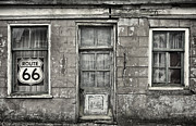 Route66 Prints - The Route 66 House BW Print by Martin Bergsma