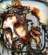 Christ Artwork Digital Art Prints - The Sacrifice Print by Carmen Cordova