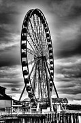 Ferris Wheels Prints - The Seattle Great Wheel Print by David Patterson