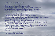 Ocean Spray  Posters - The Serenity Prayer Poster by Barbara Snyder