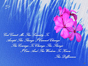 Beautiful Words Posters - The Serenity Prayer Poster by Sherri  Of Palm Springs