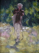 Oil Painting Originals - The Shepherd by Lavinia Paduraru
