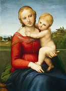 Famous Artists - The Small Cowper Madonna by Raphael