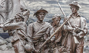 Statue Of Confederate Soldier Art - The South will Rise Again by Randy Steele