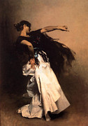 Spanish Dancing Painting Prints - The Spanish Dancer Print by John Singer Sargent