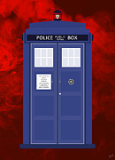 Serve Digital Art Prints - The Tardis Print by Nishanth Gopinathan