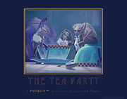 Teapot Digital Art Framed Prints - The Tea Party Framed Print by Leonard Filgate
