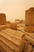 Palmyra Photos - The Temple of Bel Palmyra Syria in the light after a sandstorm by Robert Preston