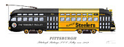 Steelers Digital Art Posters - The Terrible Trolley Poster by Carlos F Peterson