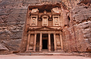 The Treasury In Petra Jordan Print by Robert Preston
