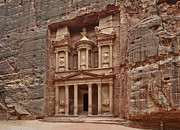 Petra Originals - the treasury Nabataean ancient town Petra by Juergen Ritterbach