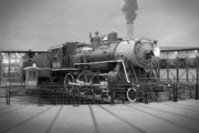 Iron Horse Digital Art - The Turntable by Mike McGlothlen