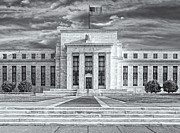 Black Commerce Framed Prints - The US Federal Reserve Board Building Framed Print by Susan Candelario