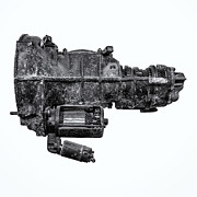 Crankshaft Prints - The Vintage Gearbox Print by Martin Bergsma