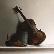 Instruments Paintings - The Violin by Larry Preston