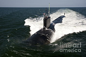 Trial Prints - The Virginia-class Attack Submarine Uss Print by Stocktrek Images