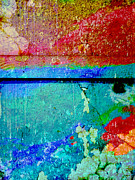 Colorful Photos Prints - The Wall abstract photograph Print by Ann Powell