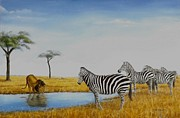 Animals Originals - The watering hole by Gilles Delage