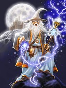 Rick Mittelstedt Art - The Wizard by Rick Mittelstedt