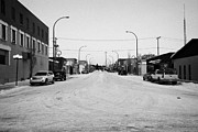 Sask Prints - third avenue main street through Kamsack Saskatchewan Canada Print by Joe Fox