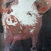 Pig Paintings - This Little Piggy by Tammy Tatum