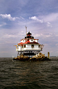 Scenic Pictures Posters - Thomas Point Shoal Lighthouse Poster by Skip Willits