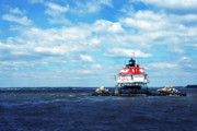 Thomas R Fletcher Metal Prints - Thomas Point Shoal Lighthouse Metal Print by Thomas R Fletcher