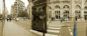 Crosswalk Prints - Threadneedle Street Print by Jan Faul