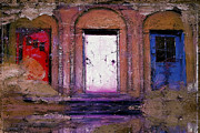 Red White And Blue Digital Art Prints - Three Doors Print by Ron Jones