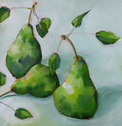 Michelle Abrams - Three Pears in Blue